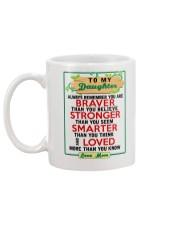 MOM - TO MY DAUGHTER Mug back