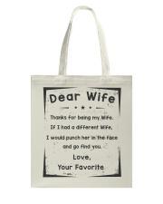 dear wife Tote Bag tile