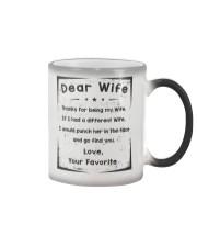 dear wife Color Changing Mug tile