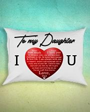 To My Daughter Rectangular Pillowcase aos-pillow-rectangle-front-lifestyle-3