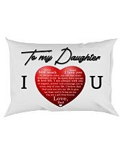 To My Daughter Rectangular Pillowcase back