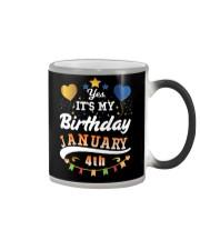 January 4th Birthday Gift T-Shirts Color Changing Mug tile