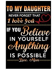 Daughter - Believe In You Mom 11x17 Poster thumbnail