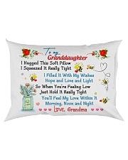 To my Granddaughter Love Grandma - Hugged Rectangular Pillowcase back