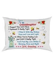 To my Granddaughter Love Grandma - Hugged Rectangular Pillowcase front