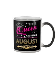 This Queen Was Born On 25TH Color Changing Mug tile