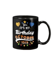 October 15th Birthday Gift T-Shirts Mug tile