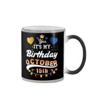 October 15th Birthday Gift T-Shirts Color Changing Mug tile