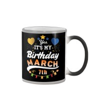 March 7th Birthday Gift T-Shirts Color Changing Mug tile