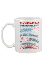 To My Son In Law Mug back