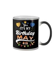 May 4th Birthday Gift T-Shirts Color Changing Mug tile