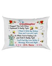 To my Granddaughter Hugged Nanna Rectangular Pillowcase back