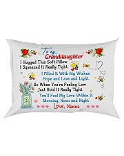 To my Granddaughter Hugged Nanna Rectangular Pillowcase front