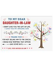 To My Daughter-In-Law - Family Tree Horizontal Poster tile