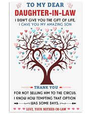 To My Daughter-In-Law - Family Tree Vertical Poster tile