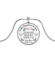 To My Daughter-In-Law - Family Tree Metallic Circle Necklace tile