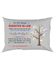 To My Daughter-In-Law - Family Tree Rectangular Pillowcase back