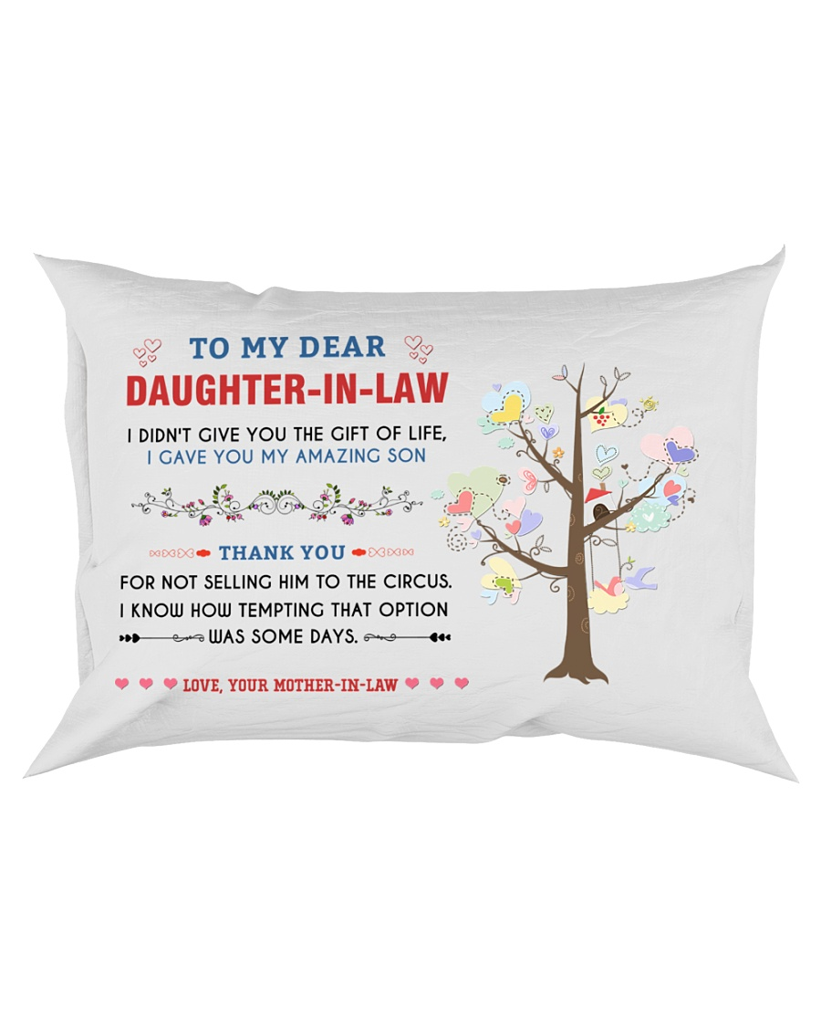 To My Daughter-In-Law - Family Tree Rectangular Pillowcase