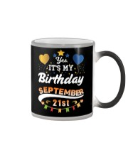 My birthday is September 21st T-Shirts Color Changing Mug thumbnail