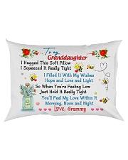 To my Granddaughter Hugged Grammy Rectangular Pillowcase back