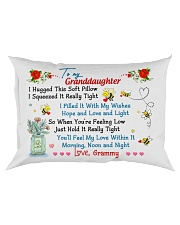 To my Granddaughter Hugged Grammy Rectangular Pillowcase front