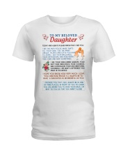 To My Beloved Daughter Ladies T-Shirt thumbnail
