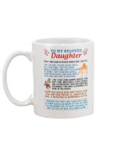 To My Beloved Daughter Mug back