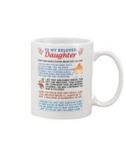 To My Beloved Daughter Mug front