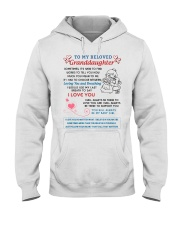 To My Beloved Granddaughter Hooded Sweatshirt thumbnail