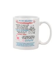 To My Beloved Granddaughter Mug front