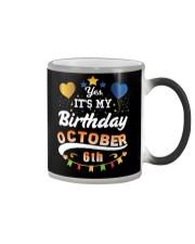 October 6th Birthday Gift T-Shirts Color Changing Mug thumbnail