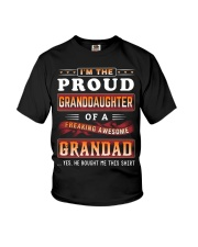 Proud Granddaughter-Grandad Youth T-Shirt front