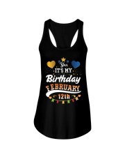 February 12th Birthday Gift T-Shirts Ladies Flowy Tank front