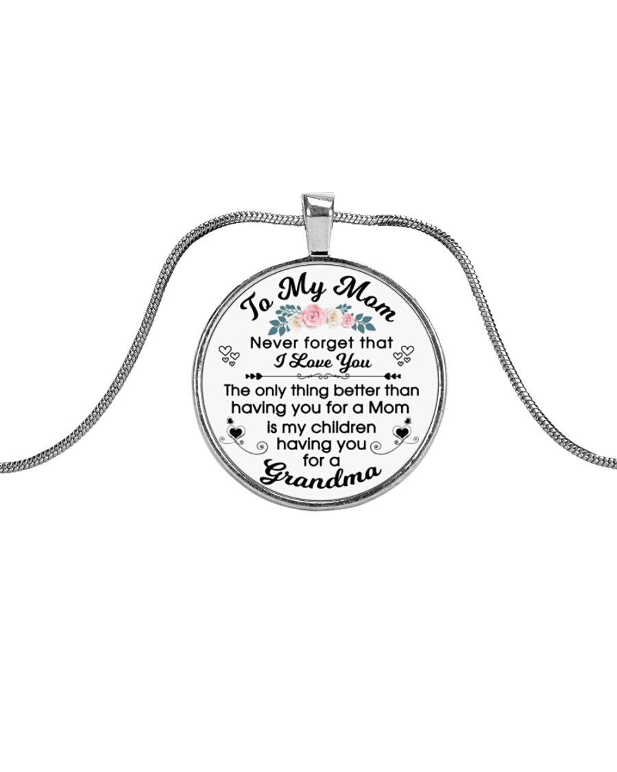 To My Mother Metallic Circle Necklace
