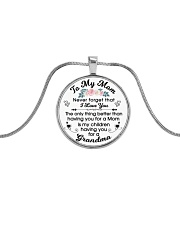 To My Mother Metallic Circle Necklace front