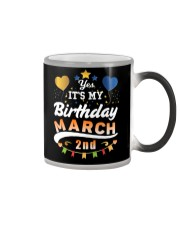 March 2nd Birthday Gift T-Shirts Color Changing Mug tile