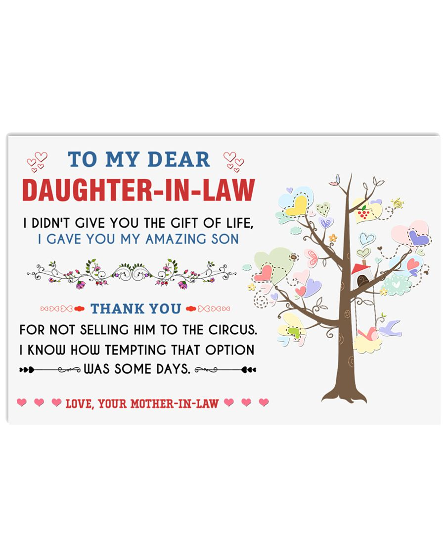 To My Daughter-In-Law - Family Tree 17x11 Poster