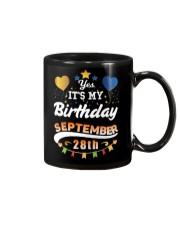 My birthday is September 28th T-Shirts Mug tile