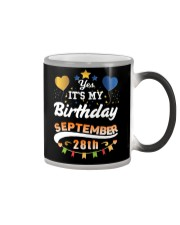 My birthday is September 28th T-Shirts Color Changing Mug tile