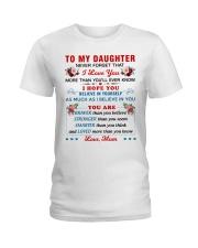 To My Daughter - Mum Ladies T-Shirt thumbnail