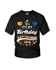My birthday is September 18th T-Shirts Youth T-Shirt thumbnail