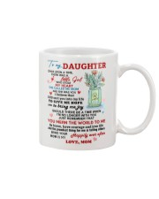 To My Daughter - Love Mom Mug Mug front