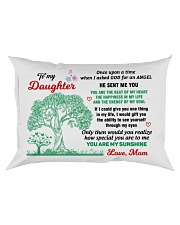 To My Daughter - Love Mom Mug Rectangular Pillowcase thumbnail