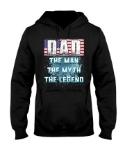 DAD Legend Fathers Day Independence Day Hooded Sweatshirt thumbnail