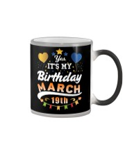 March 19th Birthday Gift T-Shirts Color Changing Mug tile