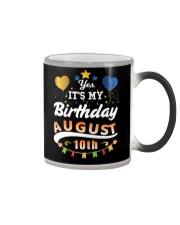 Birthday August 10th Color Changing Mug tile