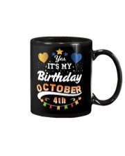 October 4th Birthday Gift T-Shirts Mug thumbnail