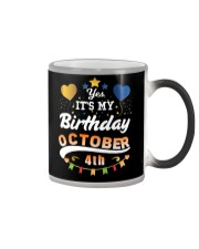 October 4th Birthday Gift T-Shirts Color Changing Mug thumbnail