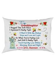 To my Granddaughter Hugged Meme Rectangular Pillowcase back