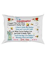 To my Granddaughter Hugged Oma Rectangular Pillowcase front